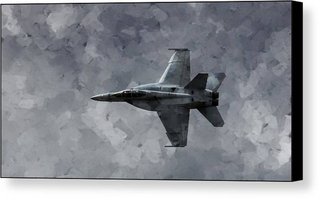F18 Canvas Print featuring the photograph Art In Flight F-18 Fighter by Aaron Lee Berg