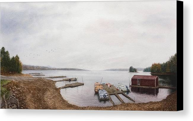 Water Canvas Print featuring the painting Last Call by Steven J White PWS