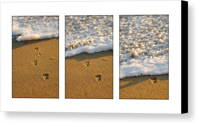 Beach Canvas Print featuring the photograph Memories Washed Away by Jill Reger