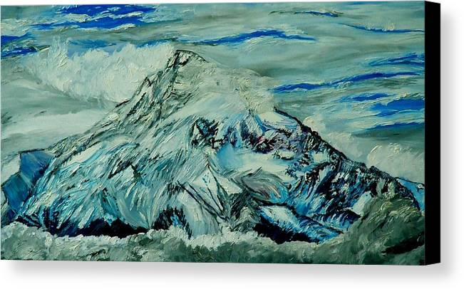 Mountain Canvas Print featuring the painting Mount Hood by Gregory Allen Page