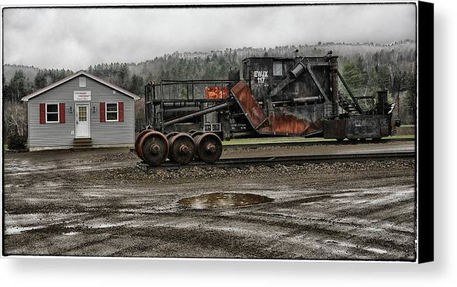 Rail Canvas Print featuring the photograph New Hampshire Central Railroad Central Office by Mike Martin