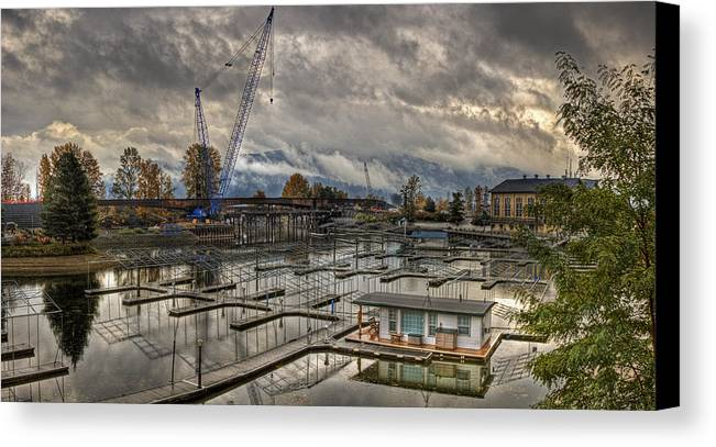 Canvas Print featuring the photograph Sandpoint Marina 2 by Lee Santa