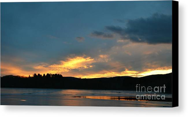 Sunset Canvas Print featuring the photograph Sunset Reflections by Julie Street
