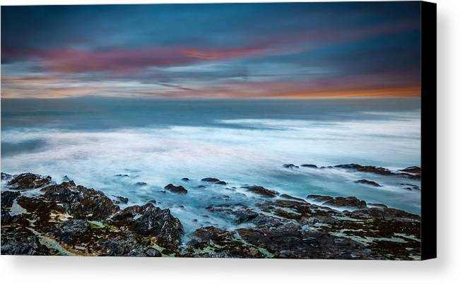 2015 Canvas Print featuring the photograph The Tempestuous Sea by Andrew Proudlove