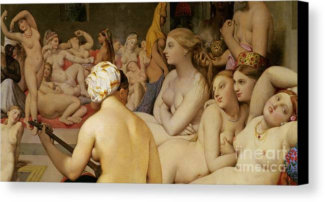 Nude Canvas Print featuring the painting The Turkish Bath by Ingres