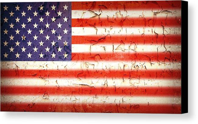 4th Canvas Print featuring the photograph Vintage Stars And Stripes by Jane Rix