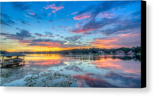 Tampa Canvas Print featuring the photograph White Trout Lake Sunset - Tampa, Florida by Lance Raab