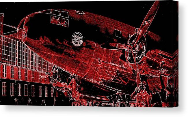 2214  Curtiss-wright Commando Canvas Print featuring the photograph  Curtiss-wright Commando by Hank Clark