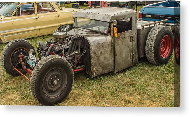 Hot Rod Canvas Print featuring the photograph Home Made Muscle by Ken Kobe