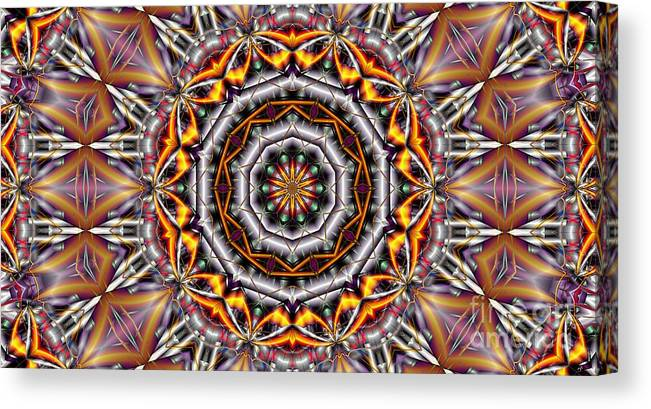 Kaleidoscope Canvas Print featuring the digital art Kaleidoscope 41 by Ron Bissett