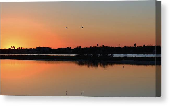 Canvas Print featuring the photograph Rockport Bay Texas by Nelson Skinner