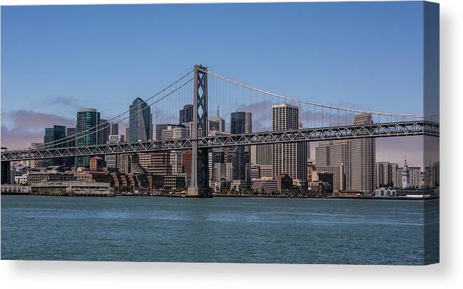 Scenics Canvas Print featuring the photograph Taking The San Francisco Bay Ferry To by George Rose