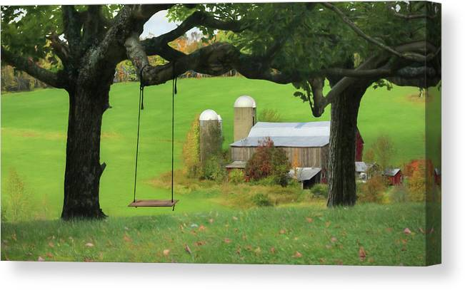 Swing Canvas Print featuring the photograph Enjoy The Little Things by Lori Deiter