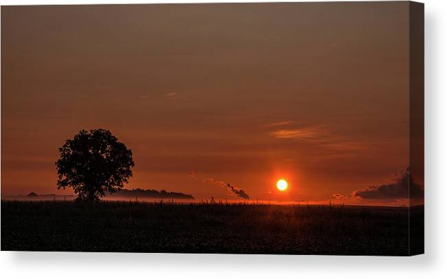Sunrise Canvas Print featuring the photograph Morning Glow by Angela Mocniak