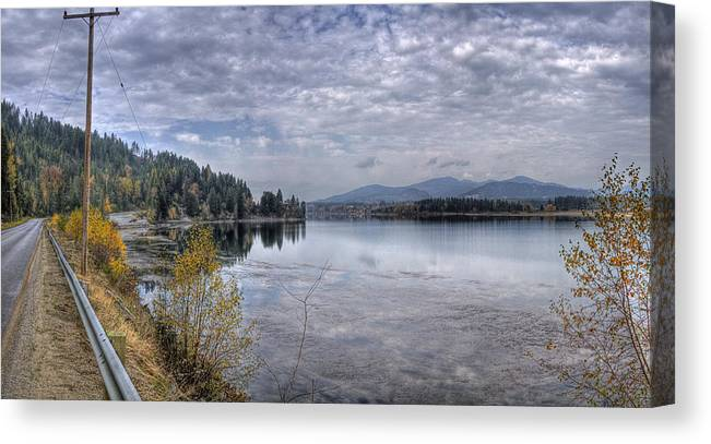 Canvas Print featuring the photograph Priest River Panorama 8 by Lee Santa