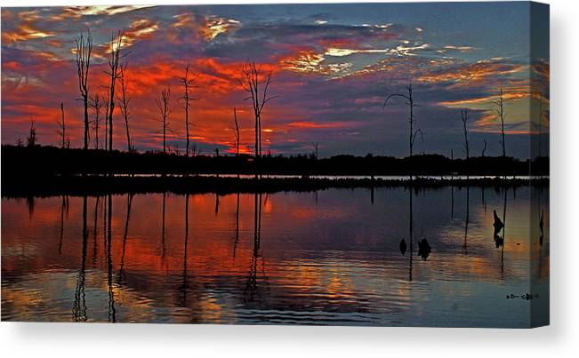 Sunset Canvas Print featuring the photograph Red Sky by Garnie McEwen