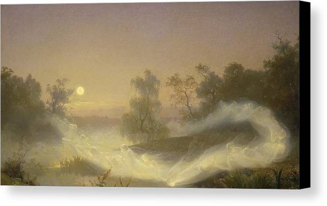 Spirit Canvas Print featuring the painting Dancing Fairies by August Malmstrom