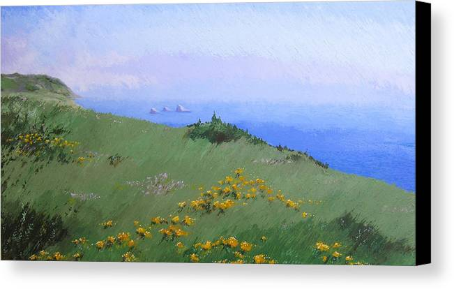 Landscape Canvas Print featuring the painting Big Sur by Hunter Jay