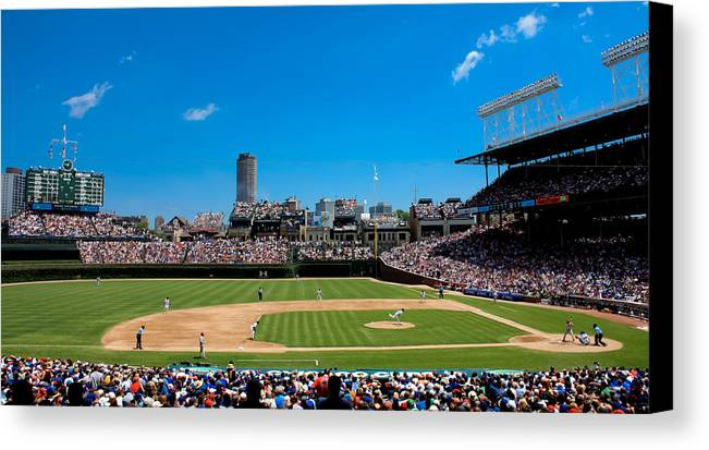 Day Game At Wrigley Field Canvas Print / Canvas Art by Anthony Doudt