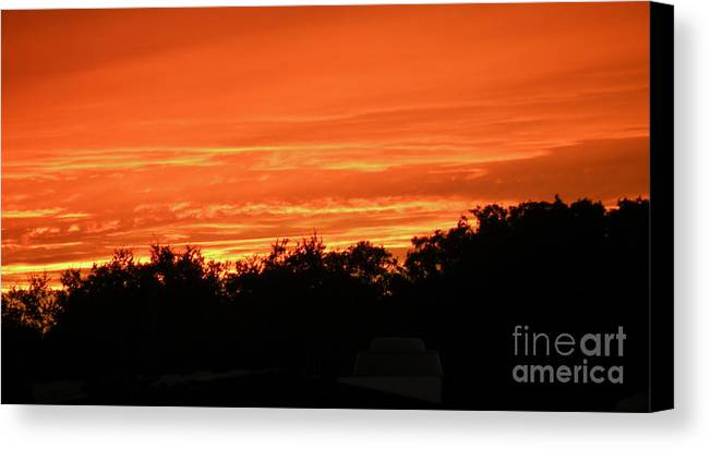 Sunset Canvas Print featuring the photograph Florida Sunset by Lora Duguay
