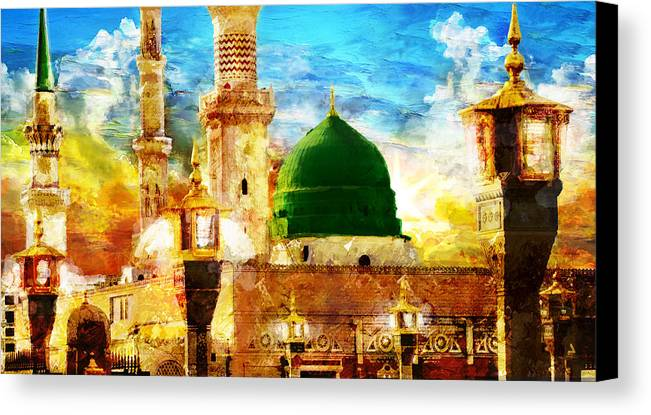 Islamic Canvas Print featuring the painting Islamic Paintings 005 by Catf