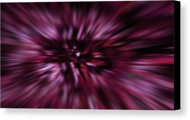 Night Nightmare Digital Art Neon Light Lights Fractal Fractals Abstract Color Colorful Expressionism Impressionism Abstract Stripped Vision Canvas Print featuring the digital art Nightmare by Steve K