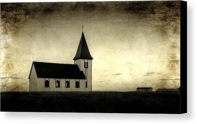 Aged Default Canvas Print featuring the photograph Old Church by Arnie Arnold