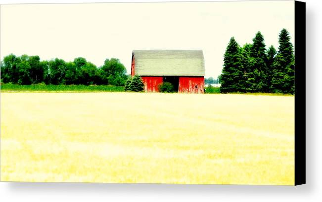 Red Canvas Print featuring the photograph Red Barn by Marysue Ryan