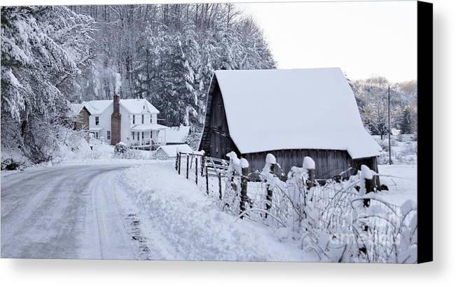 Virginia Canvas Print featuring the photograph Winter In Virginia by Benanne Stiens