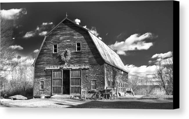 Barn Canvas Print featuring the photograph Winterberry Farm by Guy Whiteley