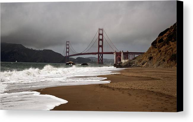 Golden Gate Bridge Canvas Print featuring the photograph Golden Gate Bridge by Gary Rose