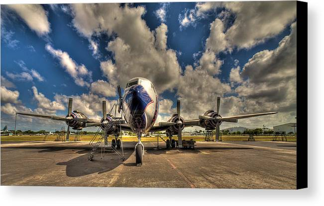 Aircraft Canvas Print featuring the photograph Blue Yonder by William Wetmore