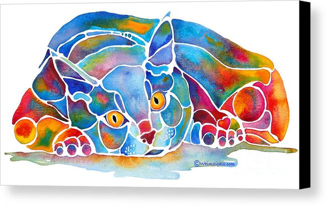 Cat Canvas Print featuring the painting Calypso Cat by Jo Lynch