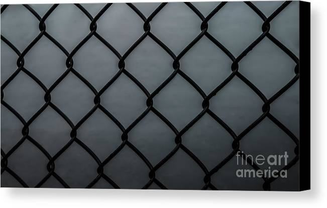 Chain Fence Canvas Print featuring the photograph Chain Fence by Olga Photography