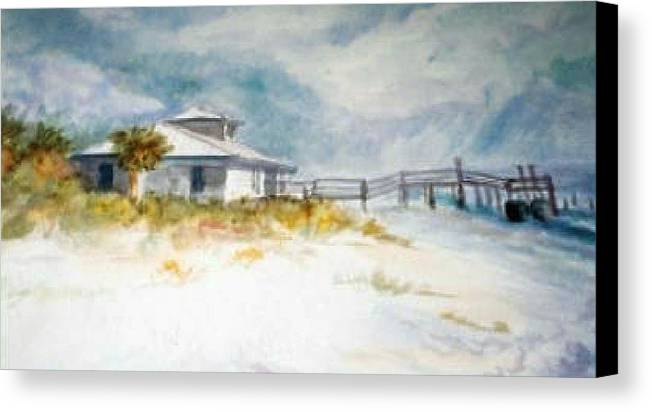 Honeymoon Canvas Print featuring the painting Honeymoon Island by Ruth Mabee