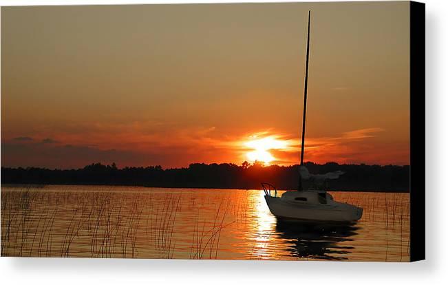 Sunset Canvas Print featuring the photograph Minnesota Sunset II by Rich Stedman