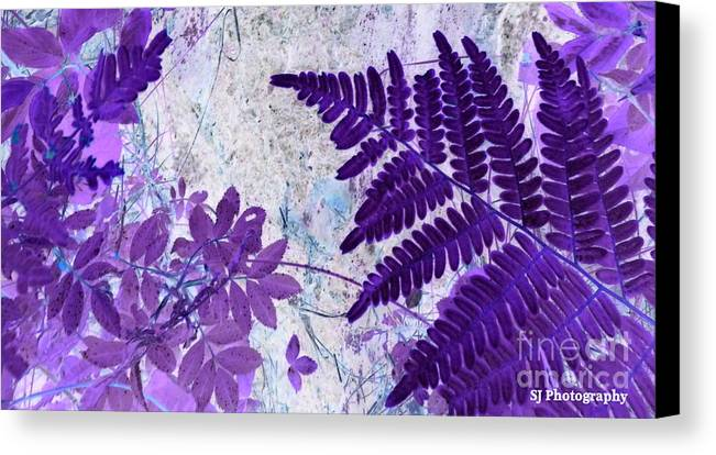 Canvas Print featuring the digital art Passion Of Purple by Wild Rose Studio