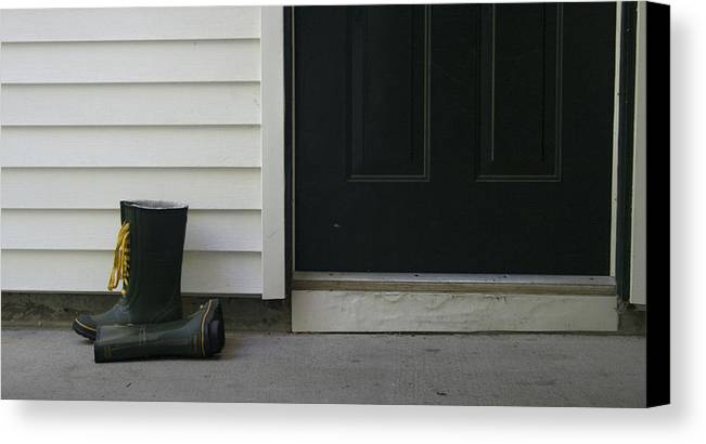 Boots Canvas Print featuring the photograph Rain Boots by Jeff Porter