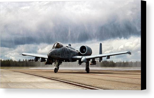 Aviation Canvas Print featuring the digital art Rain Dance by Peter Chilelli