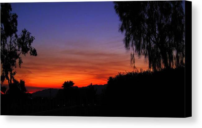 Arizona Canvas Print featuring the photograph Sunset In Arizona by Lessandra Grimley