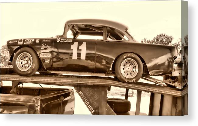 Hdr Canvas Print featuring the photograph Not For Hire Hdr by Thomas MacPherson Jr