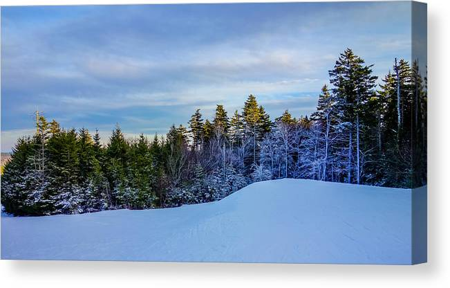 Beautiful Canvas Print featuring the photograph Beautiful Winter Landscape At Timberline West Virginia by Alex Grichenko