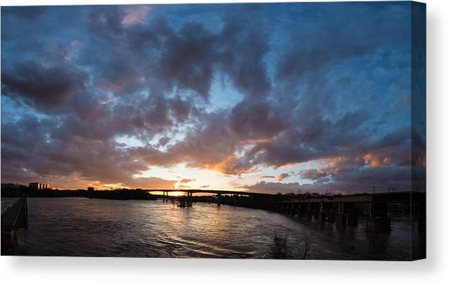 Brown's Island Canvas Print featuring the photograph Brown's Island Pano by Chris Marcussen