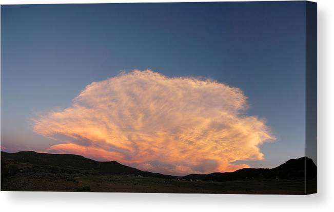 Cloud Canvas Print featuring the photograph Cloud Afar by Jerry McElroy