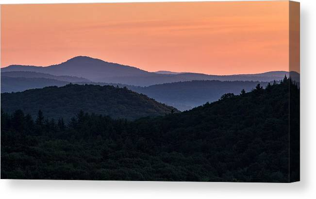 Pack Monadnock Canvas Print featuring the photograph Pack Monadnock Seen At Dawn by Stephen Gingold