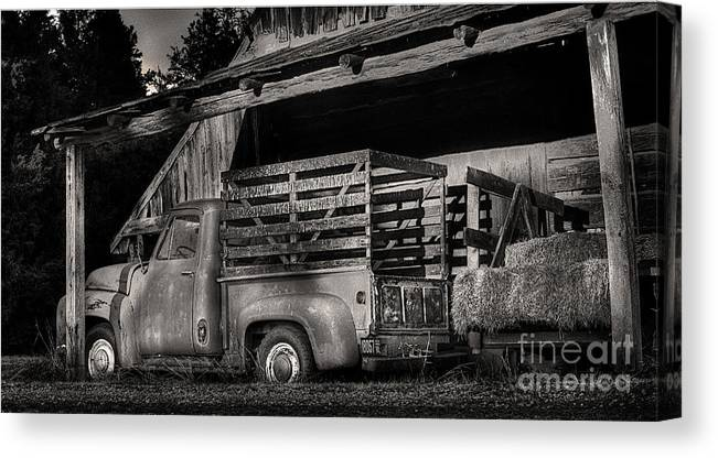 Scotopic Canvas Print featuring the photograph Scotopic Vision 5 - The Barn by Pete Hellmann