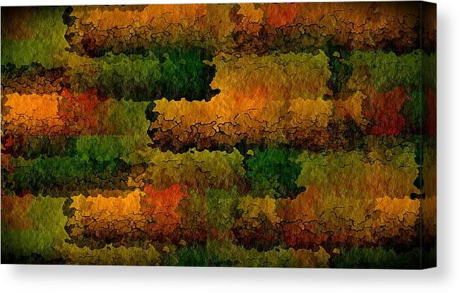 Abstract Canvas Print featuring the digital art Warm Georgia Clay by Terry Mulligan