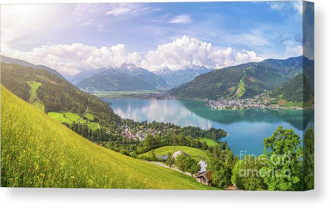 Alpine Canvas Print featuring the photograph Zell Am See - Alpine Beauty by JR Photography