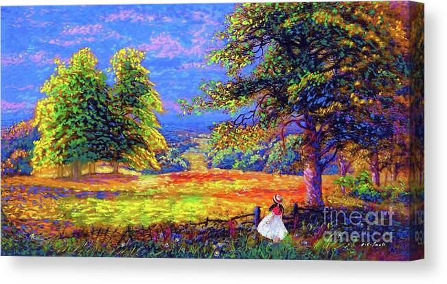 Wildflower Canvas Print featuring the painting Flower Fields by Jane Small