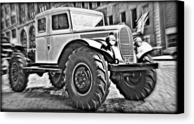 1939 Canvas Print featuring the photograph 1939 Monster Truck by Hank Clark